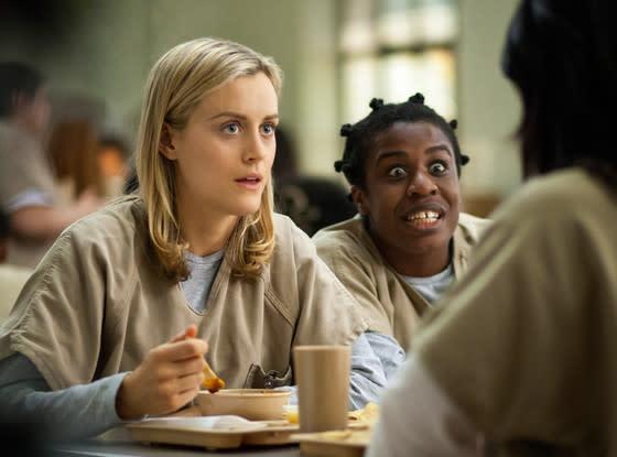 """Uzo Aduba as """"Crazy Eyes"""" on Orange is the New Black"""