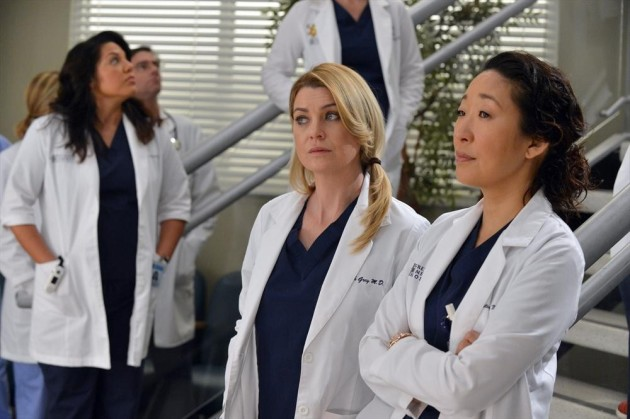 Meredith and Cristina at the Hospital