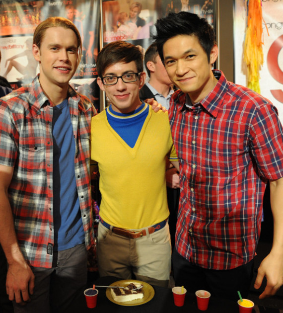 Chord Overstreet, Kevin McHale and Harry Shum Jr.