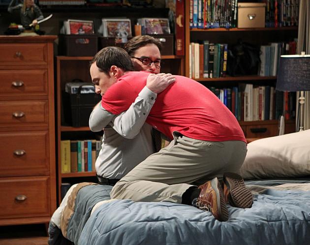 Sheldon Hugs Leonard