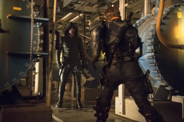 Arrow Stands and Waits as Slade Rushes