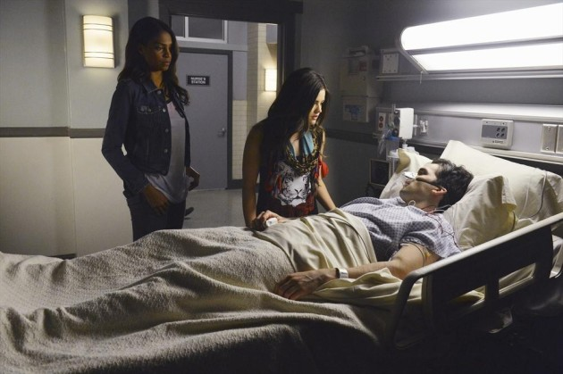 Shana and Aria at Ezra's Bedside