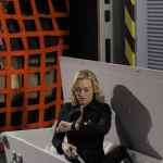 Sarah Walker on a Train