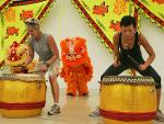 Carol and Brandi Perform the Drums