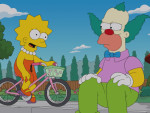 Lisa and Krusty