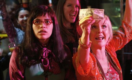 Betty and Christina at Strip Club