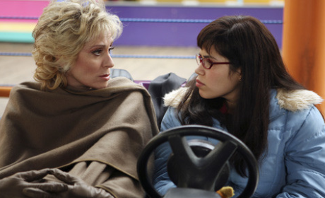Claire and Betty in Bumper Car