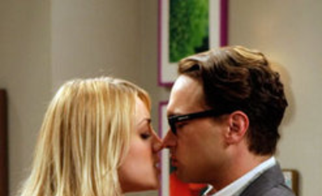 Leonard and Penny About to Kiss