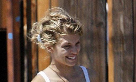 AnnaLynne on Set