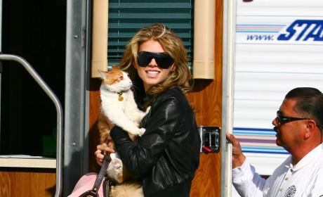 90210 Set Photos: AnnaLynne McCord and Shenae Grimes