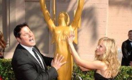 Greg Grunberg and Kristen Bell Cop a Feel