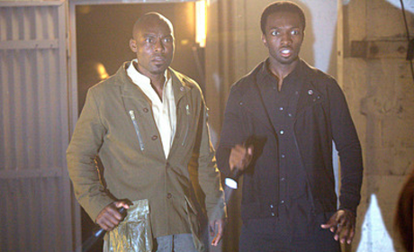 A Heroes Spoiler Picture: The Haitian and Knox