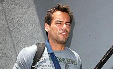 Injured Cristian de la Fuente