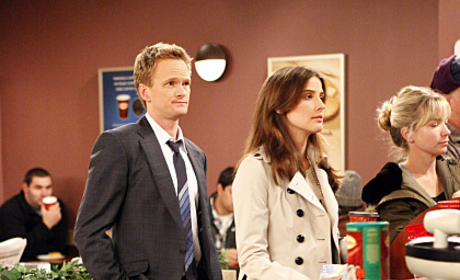Barney and Robin on Line