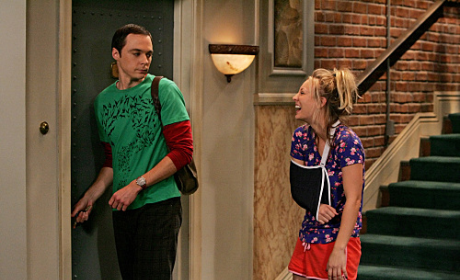 Sheldon and Injured Penny