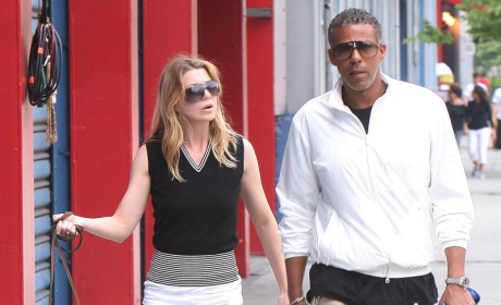 Ellen Pompeo and Family in New York