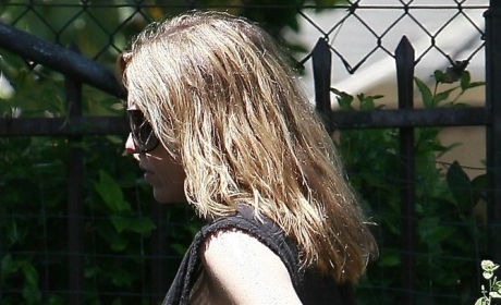 Ellen Pompeo Visits the Nursery