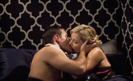 Ted Kisses Greta