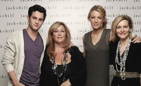Blake Lively Meets Penn Badgley's Mom