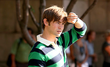 Chace Crawford Shows His Stripes