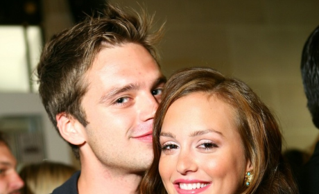 Spotted: Sebastian Stan and Leighton Meester!