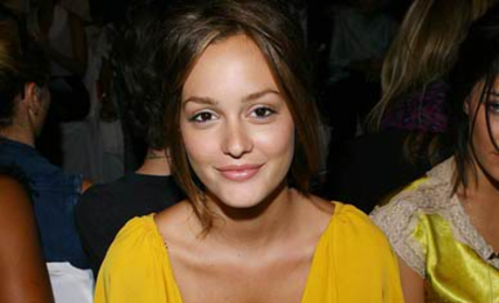 Leighton Meester Lights Up Fashion Week