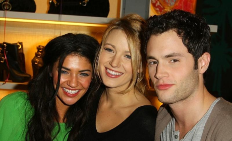 Blake Lively, Penn Badgley and Jessica Szohr