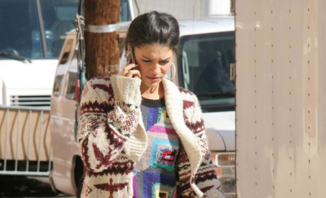 Gossip Girl Fashion Watch: Jessica Szohr Has Purple Shoes