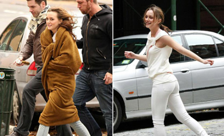 Leighton Meester Rocks in Reebok