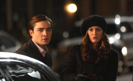 Leighton Meester, Ed Westwick Reunite ... on Set