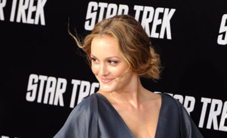 Leighton Meester Attends Star Trek Premiere