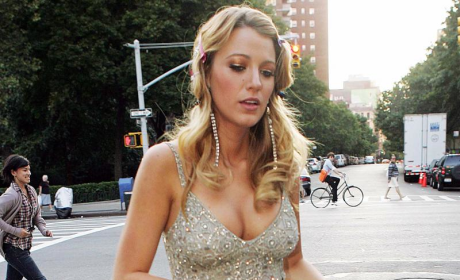 Blake Lively Pulls Double Duty, Returns to NYC