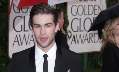 Chace Crawford at the Golden Globes