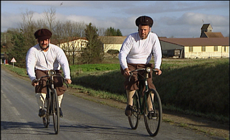 Louie and Michael Ride Through France