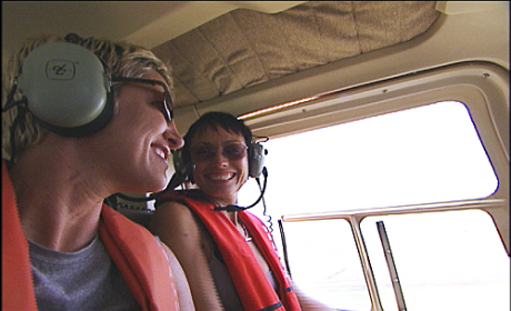 Carol and Brandi In A Helicopter