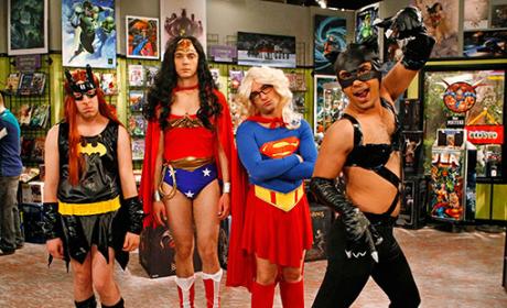 Superheroine Drag Alert: The Men of The Big Bang Theory