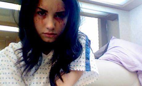 On the Grey's Anatomy Set with Demi Lovato