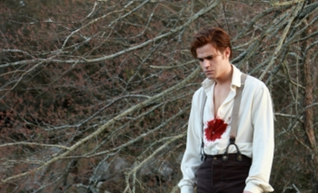 Damon Shirtless! Stefan Bloodied! Episode Photos from The Vampire Diaries