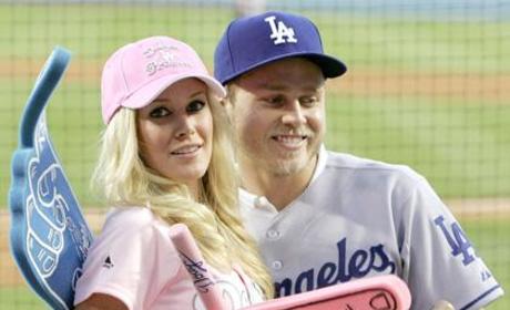 Spencer and Heidi Take in Baseball Game