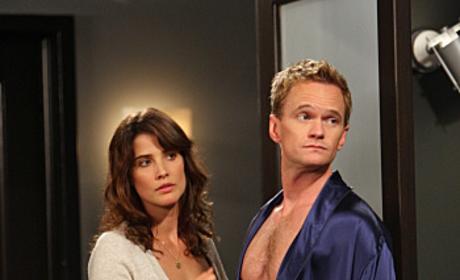 Barney in a Robe