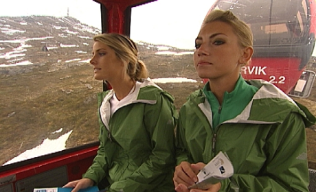 Katie and Rachel Ride the Gondola