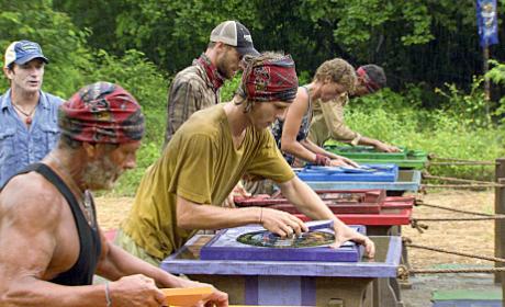 Final Five Survivors Compete in a Challenge