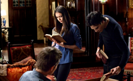 The Vampire Diaries Picture Preview: Singing, Reading, Plotting