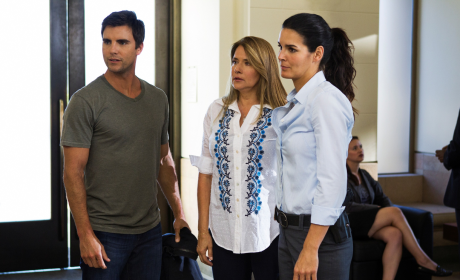Colin Egglesfield and Lorraine Bracco on Rizzoli & Isles