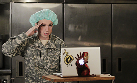 Two and a Half Men Review: Army, Some Fatigue