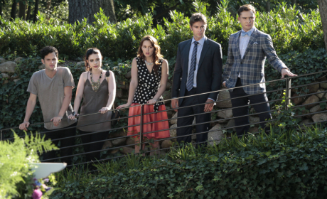 Nate, Chuck, Blair, Georgina and Dan