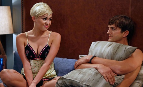 Miley Cyrus on Two and a Half Men: First Look!