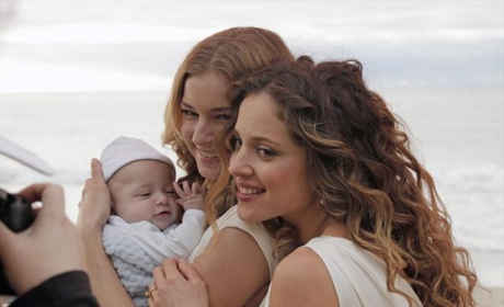 Emily and Amanda with Baby Carl