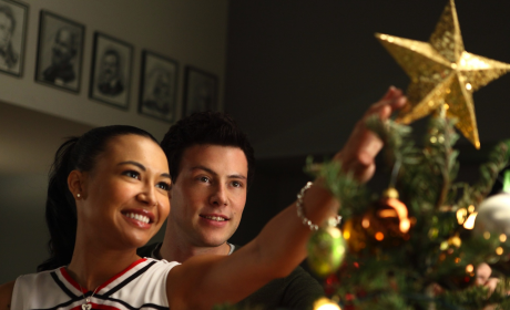 Finn and Santana on Xmas