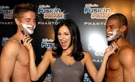 American Idol Picture of the Day: Katharine McPhee Gives a Close Shave